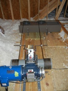 1000 Pound Capacity Attic Mounted Machine